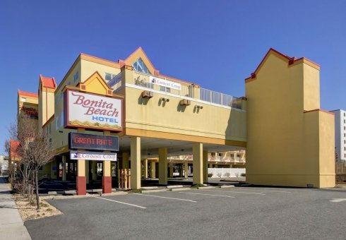 yellow hotel building exterior