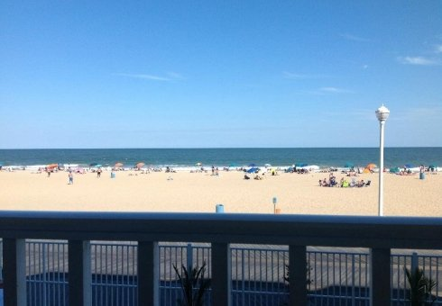 view of ocean city beach and ocean from balcony