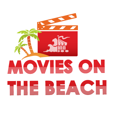 movie board and palm trees on top of Movies on the Beach